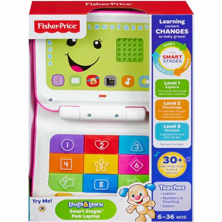 Fisher-Price Laugh & Learn Smart Stages Laptop, Blue ...