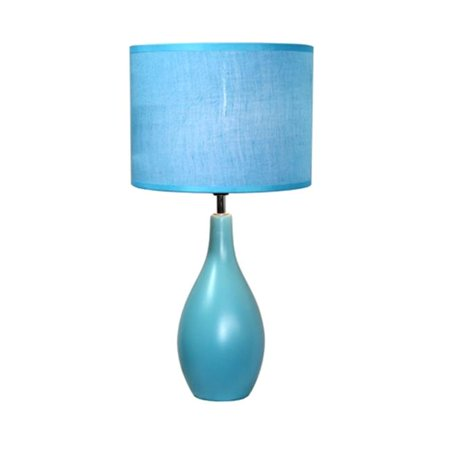 All The Rages LT2002-BLU Oval Base Ceramic Table Lamp - Blue - image 1 of 1