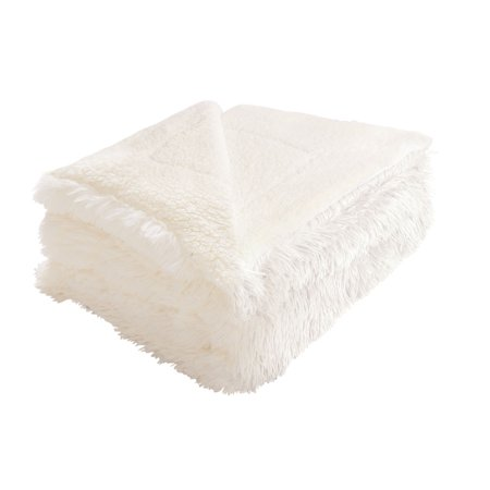 Shaggy Blanket Snuggly Fuzzy Faux Fur Warm Bed Blanket Beige 180 x 200cm - image 1 of 1