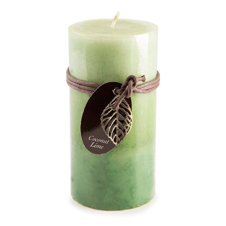 Dynamic Collections Layered Candles - Coconut Lime - 6-inch Pillar