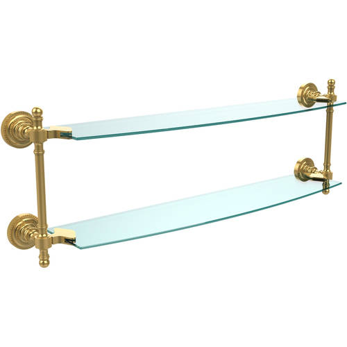 """Retro Dot Collection 24"""" 2-Tiered Glass Shelf (Build to Order)"""