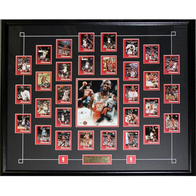 Midway Memorabilia Michael Jordan Upper Deck Tribute Card Set Frame