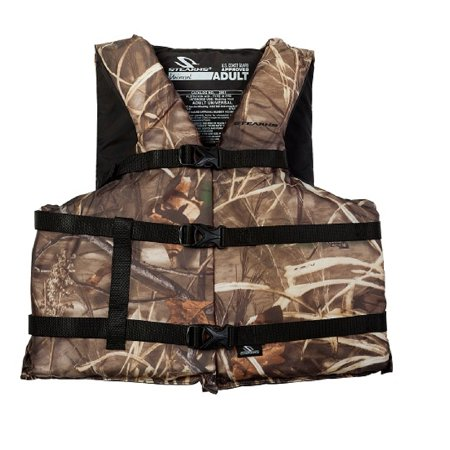 Stearns Classic Series Life Vest, Camouflage, Adult Universal Oversized