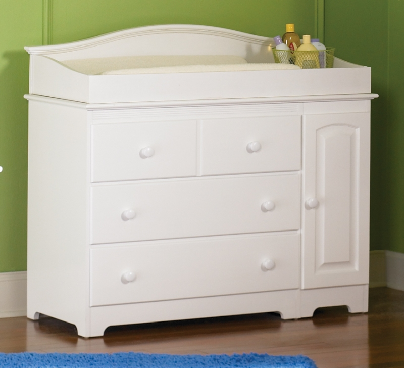 Windsor Changing Table with Cabinet-Color:White
