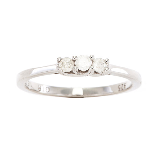 1/5 Carat T.W. Diamond Promise Bridal Ring in Sterling Silver