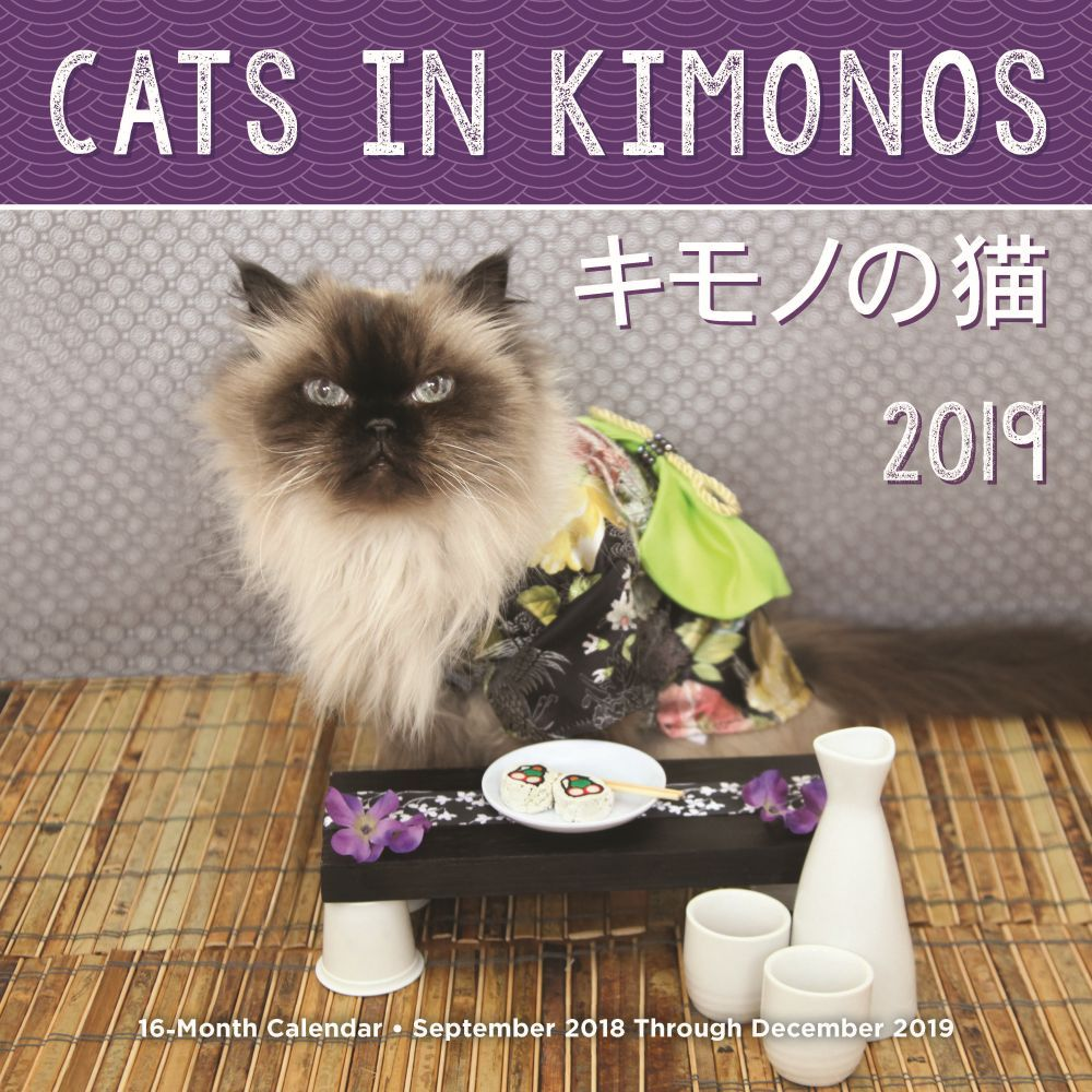 2019 Cats in Kimonos 2019 Wall Calendar, Funny Cats by Rock Point