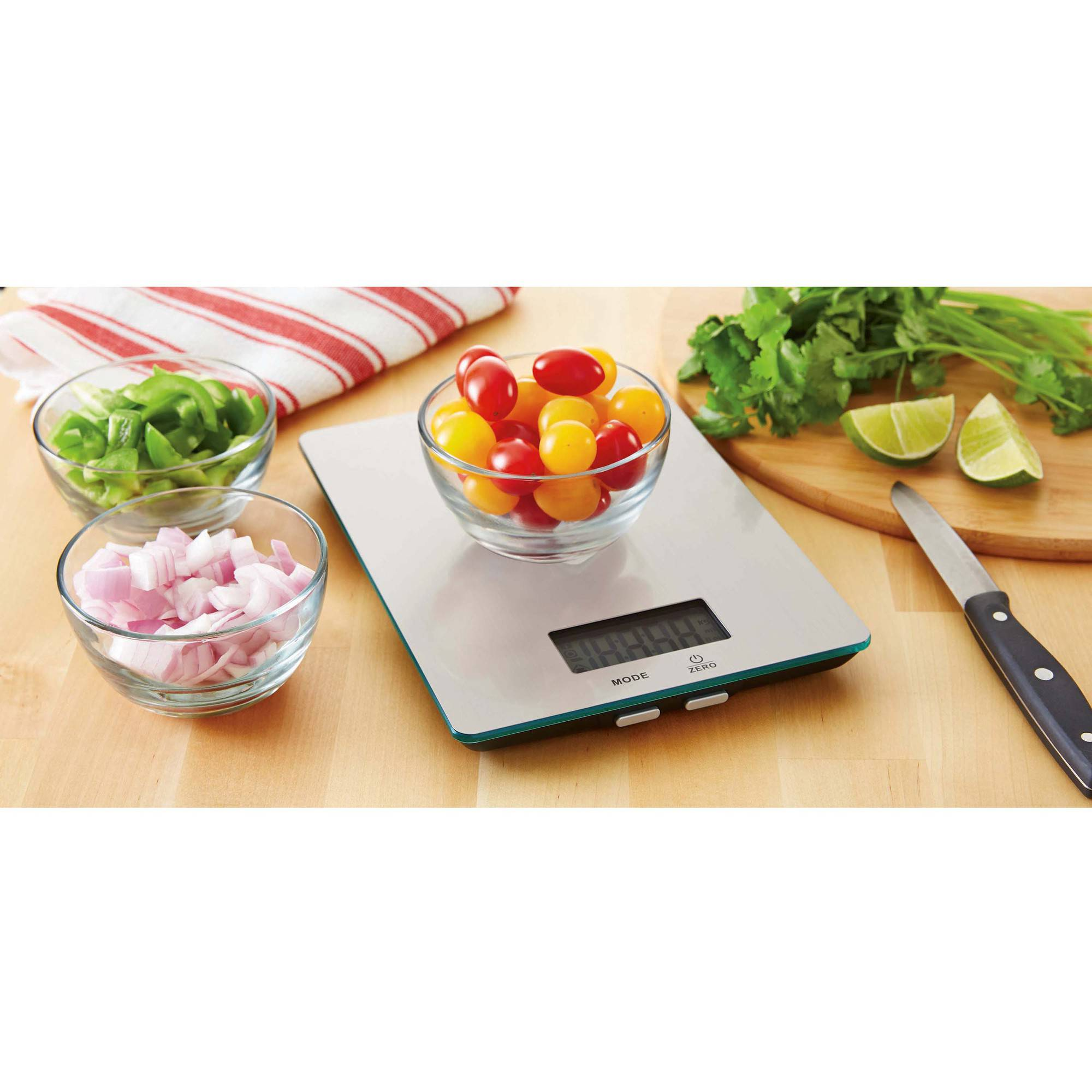 Mainstays Stainless Steel Digital Kitchen Scale
