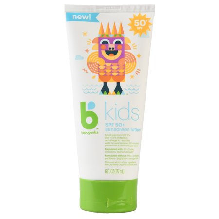 Babyganics Kids Sunscreen Lotion, SPF 50+, (Best Babyganics Sunscreen For Kids)