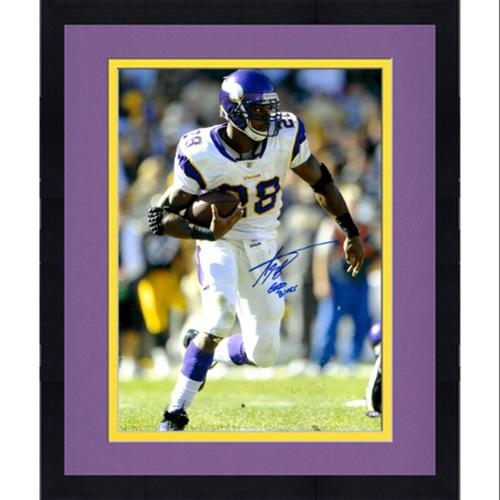 Framed Adrian Peterson Autographed 16x20 Photo - God Bless