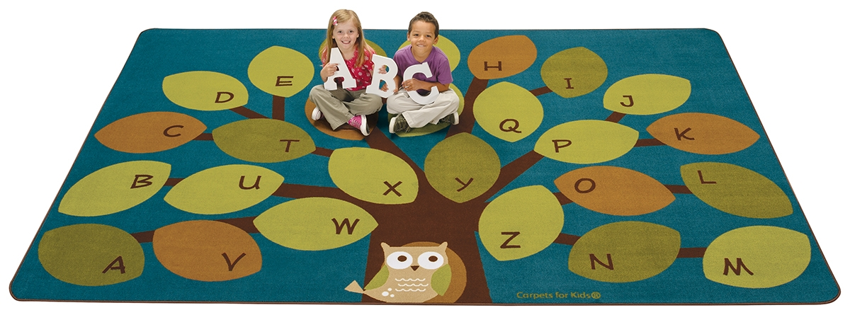 Perfect Carpets For Kids Owl Phabet Kids Rug   Walmart.com