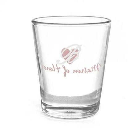 Personalized Shot Glasses Wedding (Hortense B Hewitt 38827P Personalized Matron of Honor Heart Wedding Party Shot)