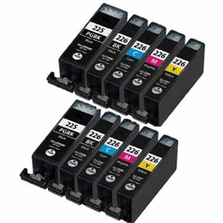 Universal Inkjet Compatible Multipack for Canon CLI-226/PGI-225, 10-Pack