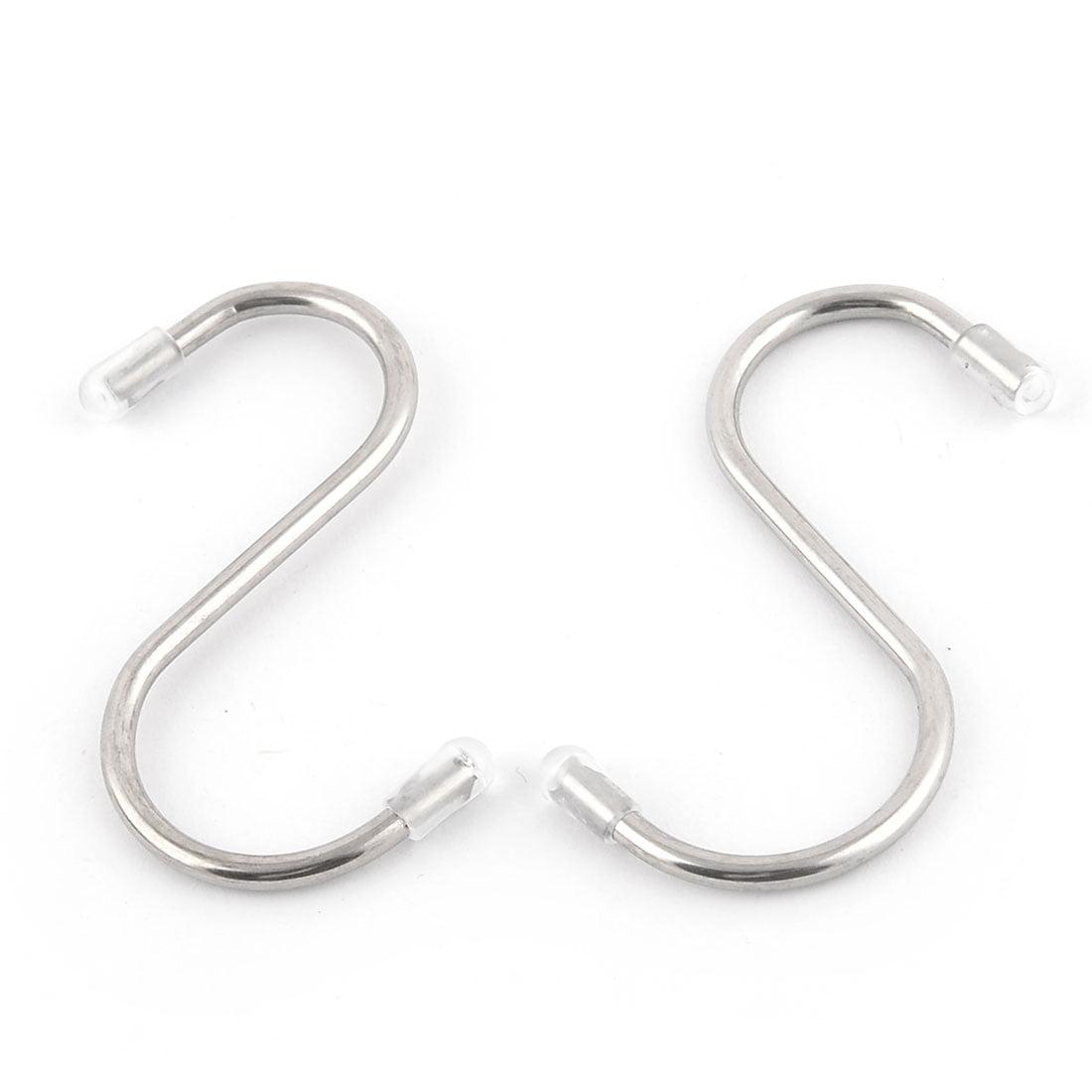 Dorm Room Stainless Steel S Shaped Coats Holder Hanger Hook 5.5cm Width 25pcs - image 3 of 4