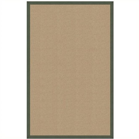 Hawthorne Collection 5' x 8' Hand Tufted Cotton Rug in Sisal and Green