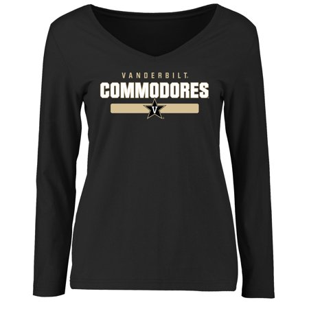 Vanderbilt Commodores Women's Team Strong Long Sleeve T-Shirt - Black Vanderbilt Commodores Ncaa Ball