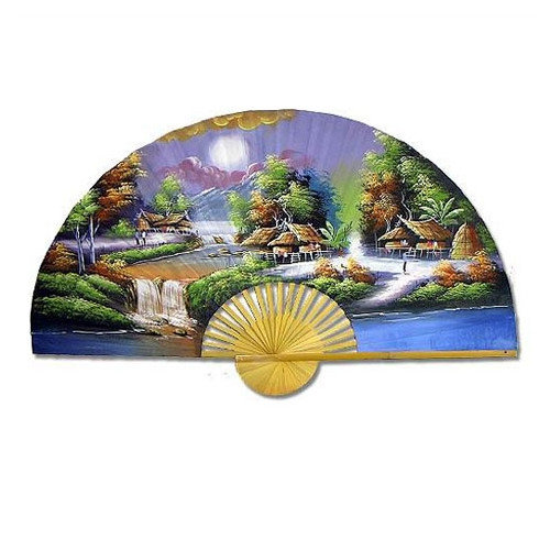 Oriental Furniture Breathtaking Village Oriental Fan Wall D cor