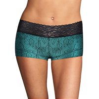 Women's Maidenform 40859 Dream Cotton Boyshort With Lace Panty