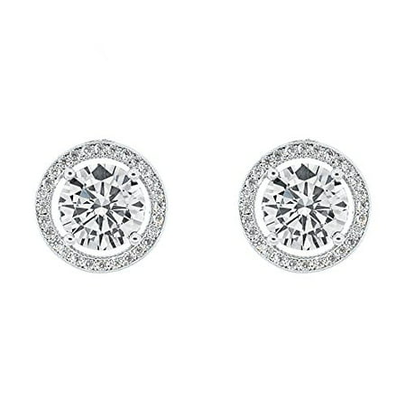 jewelry gold illusion earrings white in tw diamond set