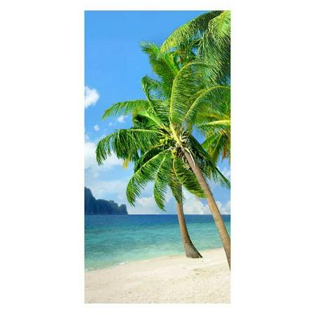 Hilasal Palm Island Fiber-Reaction Printed Beach Towel - 30 x 60 inches 12058 ()