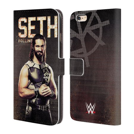 OFFICIAL WWE SUPERSTARS LEATHER BOOK WALLET CASE COVER FOR APPLE IPHONE PHONES ()
