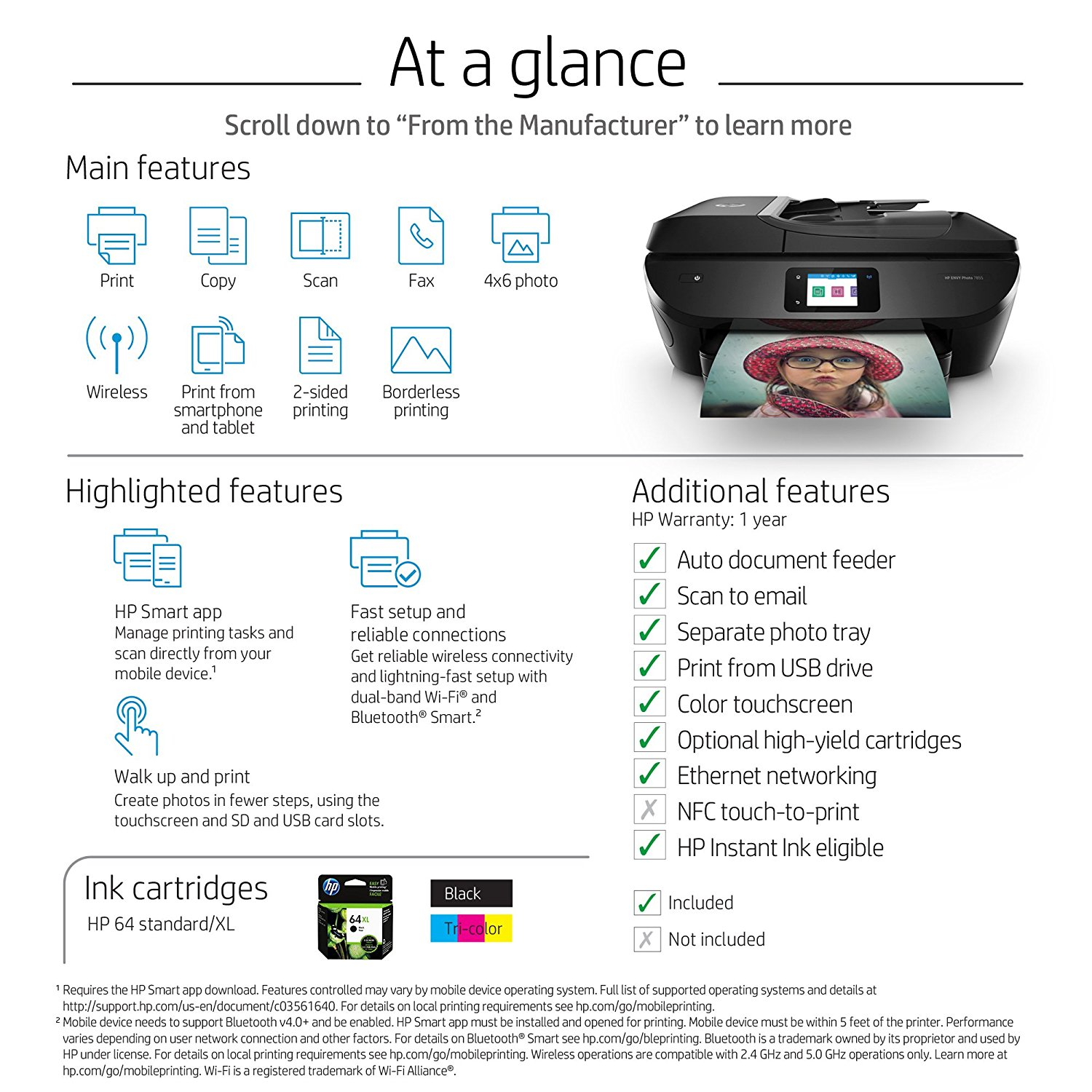 Hp Envy Photo 7858 All In One Printer Walmartcom