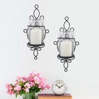 Better Homes & Gardens Wall Sconce Pillar Candle Holders, 2 Count