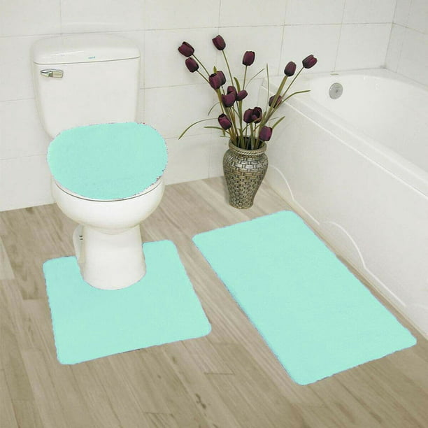 Mint Green Bathroom Rug Set Home