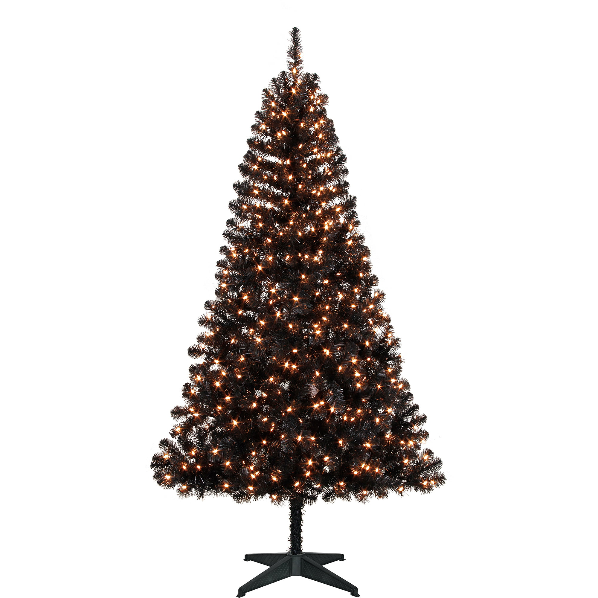 holiday time pre lit 65 madison christmas tree black clear lights walmartcom - Christmas Tree Walmart