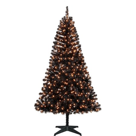 holiday time pre lit 65 madison christmas tree black clear lights - Walmart Black Christmas Tree