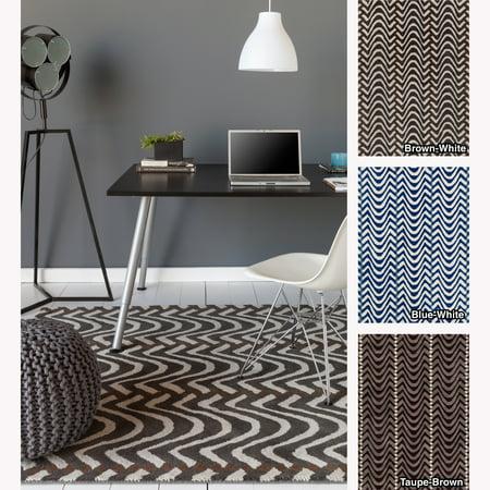 Chevron Wool Rug (Artist's Loom  Hand-tufted Contemporary Chevron Wool Rug (5'x7'))