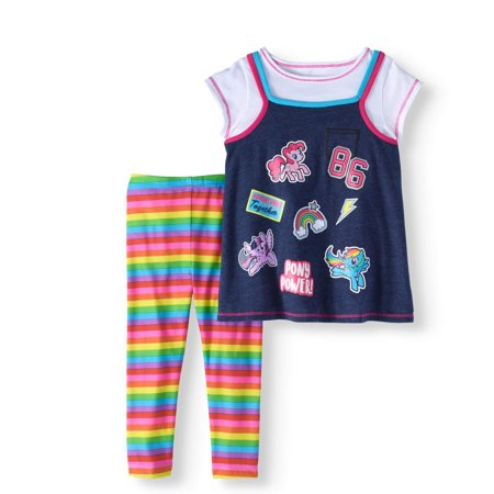 80s Outfit For Girl (My Little Pony Short Sleeve Tunic & Leggings, 2pc Outfit Set (Toddler)