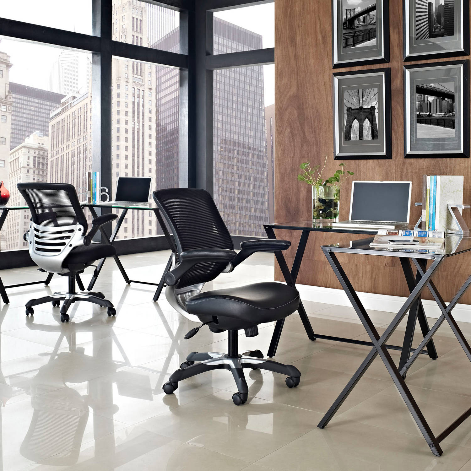 modway edge office chair with mesh back and seat, multiple colors
