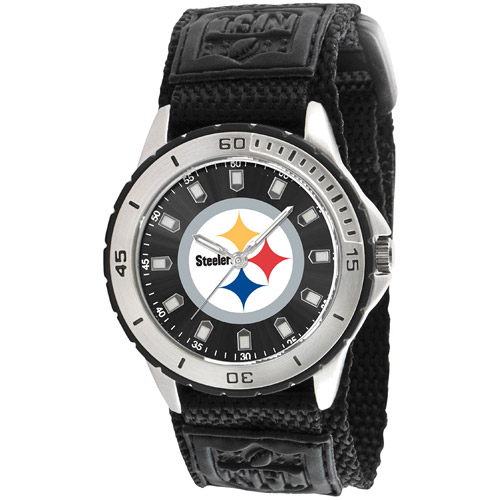 Game Time NFL Men's Pittsburgh Steelers Veteran Series Watch, Black