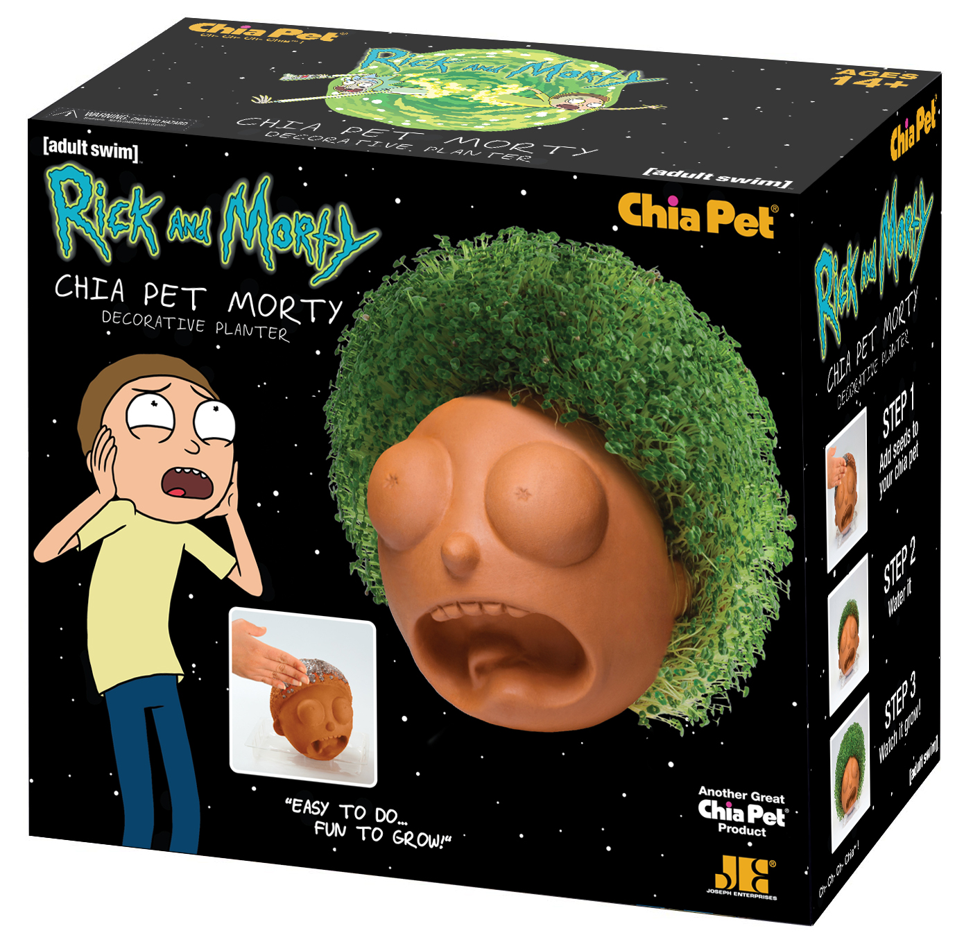 """Chia Pet """"Morty"""" from Rick & Morty - Decorative Pottery Planter!"""