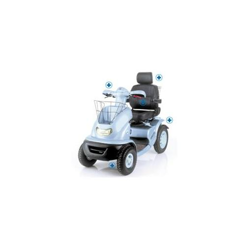 Afikim Electric Vehicles FT4W022 Breeze IV 6. 2-7. 5 mph with Golf Wheels singel seat-silver