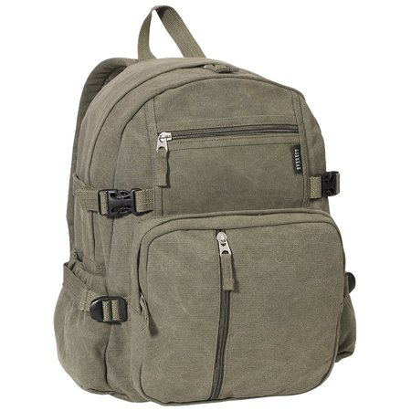 Luggage Canvas Backpack Olive, Olive, One Size, Cotton By everest (Everest Canvas Backpack)