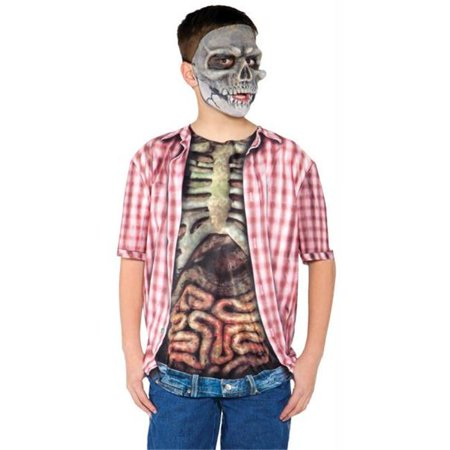Skeleton W Guts Shirt Child Md - Halloween Guts Recipes