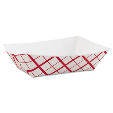 Southern Champion Tray SCH0425 Paper Food Baskets, 3lb, Red/white, (Champion Paper)