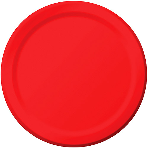 Creative Expressions 7'' Luncheon Plates - 24-Pack, Classic Red