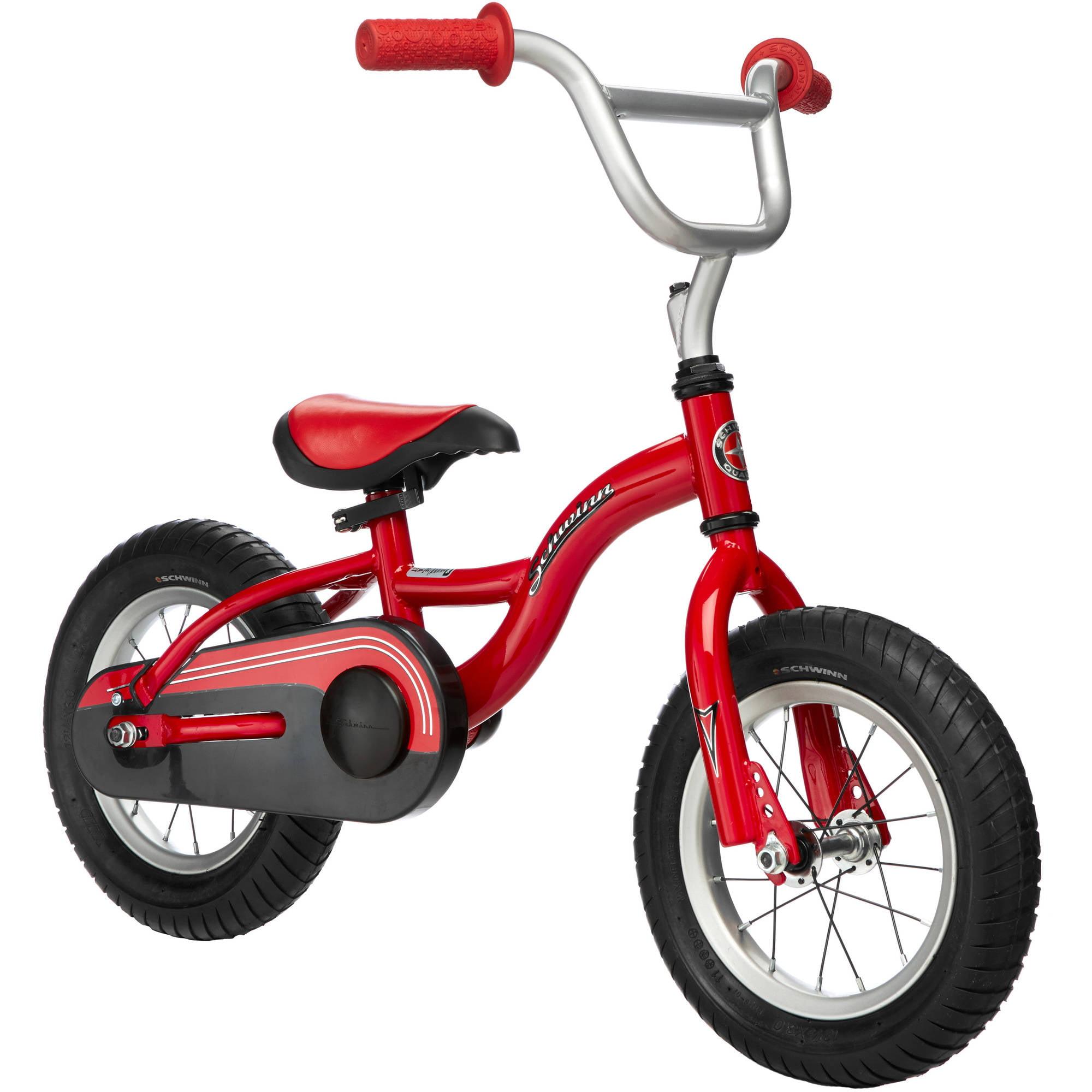 """12"""" Schwinn Boys' Kwickster 2-N-1 Learning Bike, Red"""