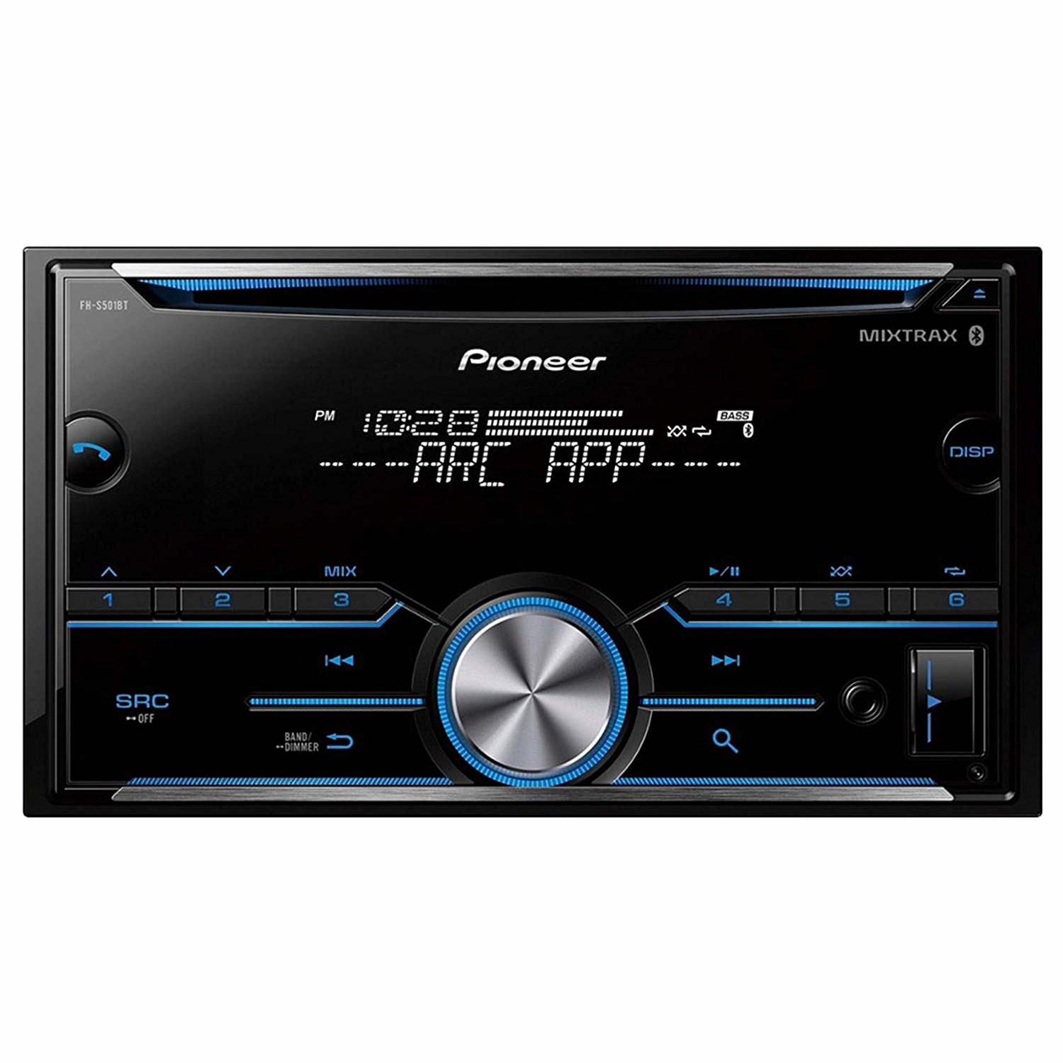 Pioneer FH-S501BT Double DIN CD Receiver with Improved Pioneer ARC App Compatibility, MIXTRAX, Built-in Bluetooth (Open Box)
