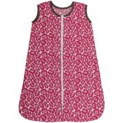 Bacati - Ikat Leopard 100% Cotton breathable Muslin Sleep Sack, Bright Pink