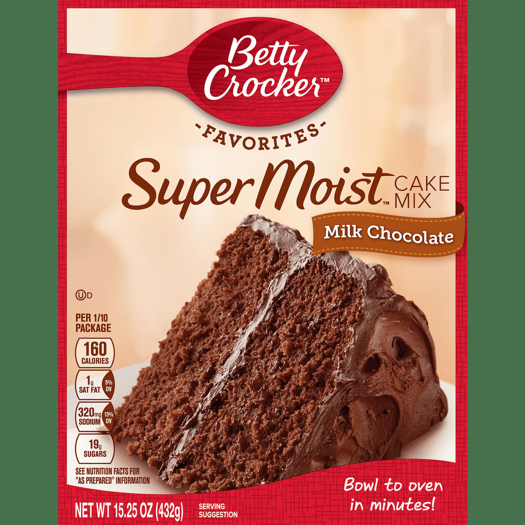 Betty Crocker Super Moist Milk Chocolate Cake Mix 15 25 oz