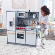 KidKraft Uptown Elite White Play Kitchen with EZ Kraft Assembly ™ and 3 Piece Accessory Play Set