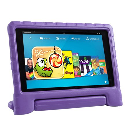 Hde Kids Case For 2016 Fire Hd 8 Tablet Cover Lightweight Shock Proof 2 In 1 Handle Stand For 6Th Generation Amazon Fire Hd 8  2016 Release Only  Purple