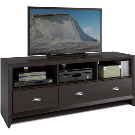 CorLiving TEK-582-B Kansas TV Bench in Espresso Finish for TVs up to 60″