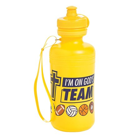 Fun Express - Sports Vbs Water Bottles - Party Supplies - Drinkware - Water Bottles & Canteens - 12 Pieces (Vbs Supplies)