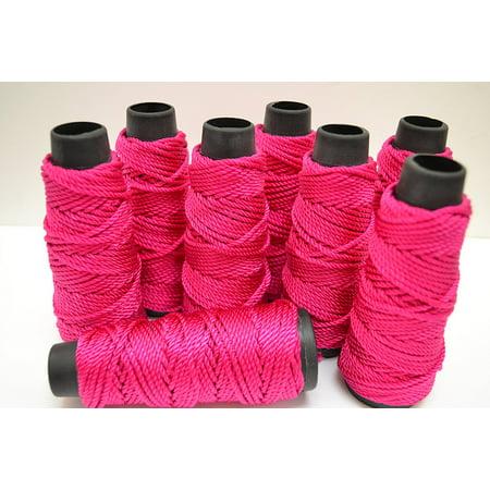 8 Roll - 12 Meters Fuscha Pink Silk Beading Cord String 2.5mm, Silk beading cord By MyGANN