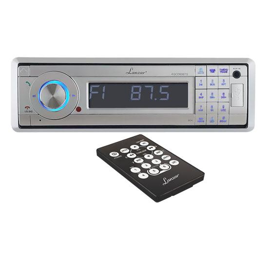 Lanzar Aqcd60bts Marine Cd/mp3 Player - Silver - Detachable Faceplate In-dash - Lcd Display - Cd-r - Cd-da, Mp3, Wma - Am, Fm - 18, 12 X Fm, Am Preset - Secure Digital [sd] Card, (aqcd60bts_6)