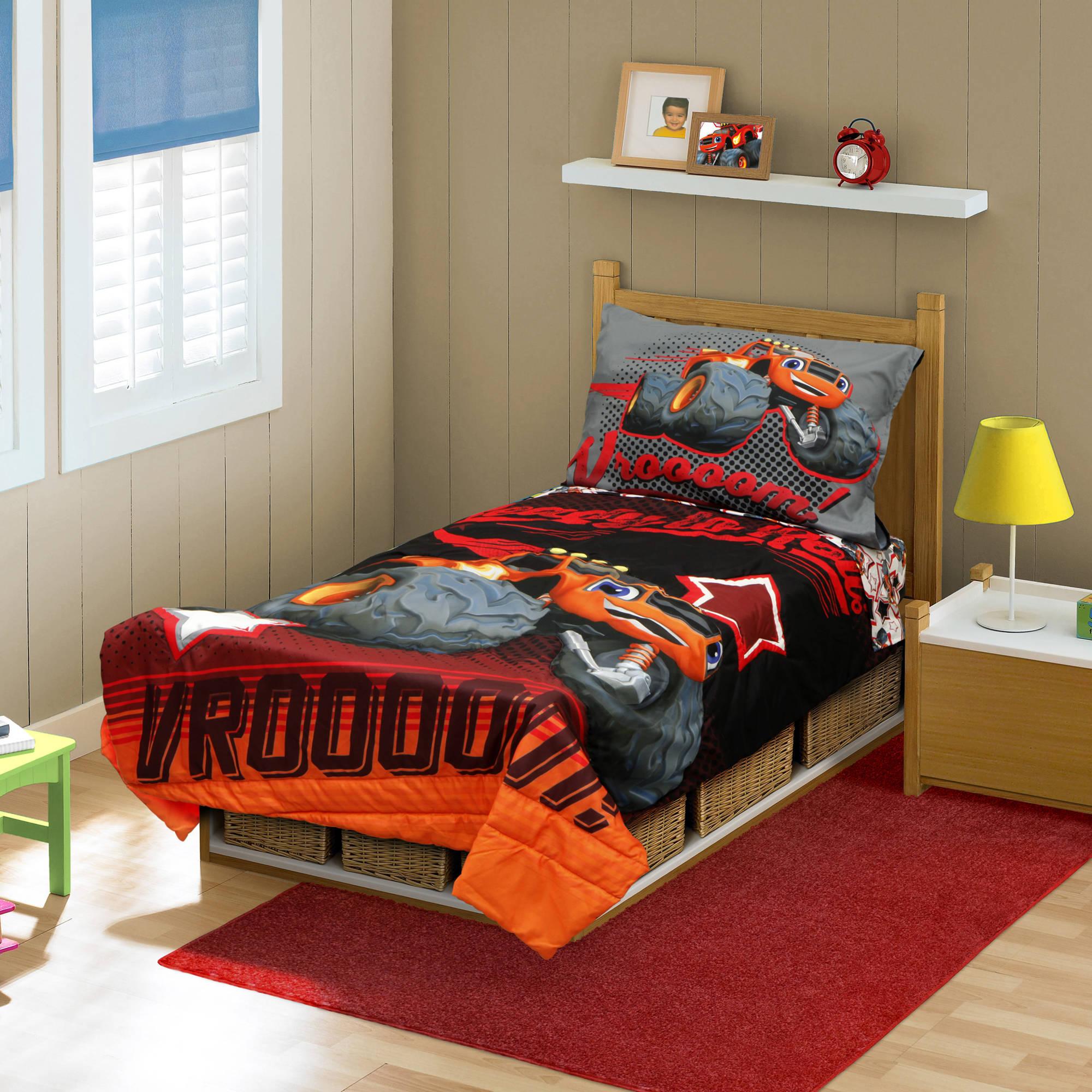 Blaze and Monster Machines 4 pc  Toddler Bedding Set